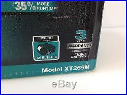 Makita XT269M 18V 4.0Ah LXT Li-Ion Brushless Cordless Combo Kit, 2-Tool