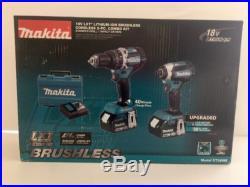 Makita XT269M 18V Li-Ion Brushless Combo Kit Hammer Drill/ Impact Driver