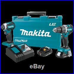 Makita XT269R 18V LXT LithiumIon Brushless Cordless 2Pc. Combo Kit (2.0Ah)