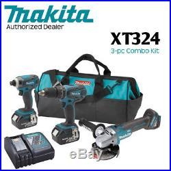 Makita XT324 18V LXT LithiumIon Cordless 3Pc. Combo Kit (3.0Ah)