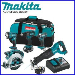Makita XT505 18V LXT Cordless Li-Ion 5-Pc Combo Kit withFull Warranty