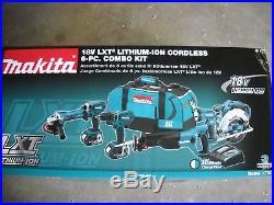Makita XT601 Cordless 18-volt LXT Lithium-Ion Combo Tool Kit Set 6 Tools NEW 18V