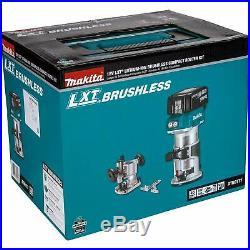 Makita XTR01T7 18V LXT Brushless Router Kit NEW includes 2 bl1850b batteries