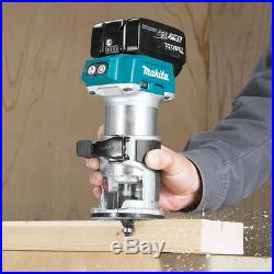 Makita XTR01T7 18-Volt 1/4-Inch 5.0Ah Cordless Brushless Compact Router Kit
