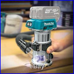 Makita XTR01Z 18V LXT LithiumIon Brushless Cordless Compact Router, Tool Only
