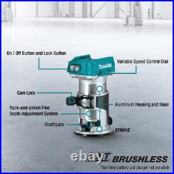 Makita XTR01Z 18V LXT Lithium-Ion Brushless Compact Router (Tool Only) XTR01