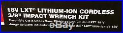 Makita XWT06 18V LXT Lithium-Ion Cordless 3/8 Impact Wrench Kit NEW