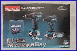 NEW Makita XT248MB 18V 18-Volt LXT Lithium-Ion Brushless 2pc Combo Kit