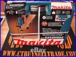 NOS New Makita 18V Cordless 1/2 Drill/Driver Kit 6343DWAE