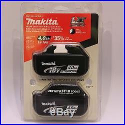 New Genuine Makita BL1840-2 18V 4.0Ah Lithium-Ion Battery 2 Pack NIB Retail