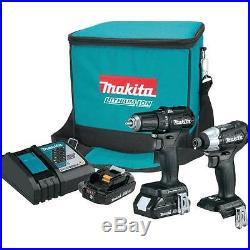 New Makita 18V LXT Lithium-Ion Sub-Compact Brushless 2 Pc. Combo Kit CX200RB