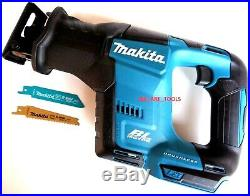 New Makita 18V XRJ07ZB Compact Cordless Battery Reciprocating Saw, Blades 18 Volt