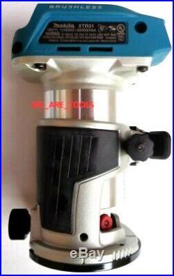 New Makita 18V XTR01 Cordless Brushless Router 18 Volt LXT Variable Speed LED