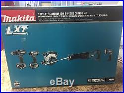 New Makita 18 Volt LXT Lithium Ion Cordless 5 Piece Combo Power Tool Kit