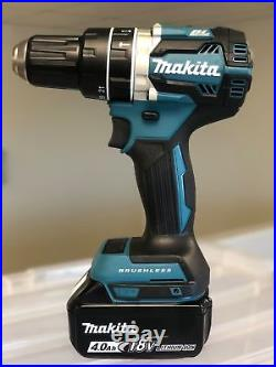 New Makita 1/2 Brushless Cordless Hammer Drill XPH12Z 18V LXT + (1) 4.0AH Batt