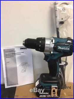 New Makita XPH07Z 18V LXT 1/2 Brushless Hammer Drill Driver + (1) BL1850 Batts