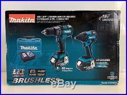 New Makita XT248MB 18V LXT Brushless 4.0Ah Lithium-Ion Cordless Combo Kit