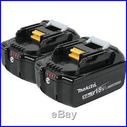 (Qty 2) Genuine Makita BL1850B 18V 90Wh 5.0Ah Lithium Ion Battery With LED Gauge
