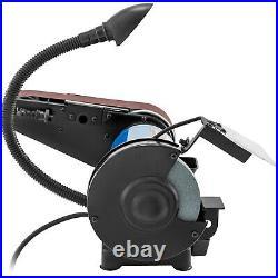 VEVOR Combo Belt Sander Grinder Bench Sharpener 6 Disc 2 x 28 Belt with Lamp